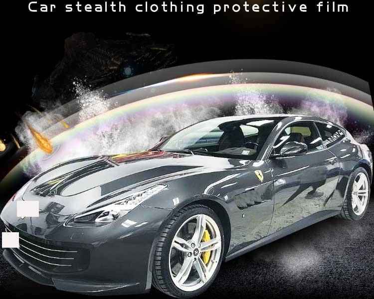 SUNICE TPH Auto-adhésif meubles Film de protection Anti-jaune Transparent voiture Auto multi-taille Anti-déflagrant largeur: 50 cm