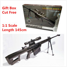 1:1 Scale 145cm Barrett M82A1 Sniper Rifle 3D Paper Puzzles Indentation Gun Model Cut Free Assemble Gift Toys Cosplay Collection(China)