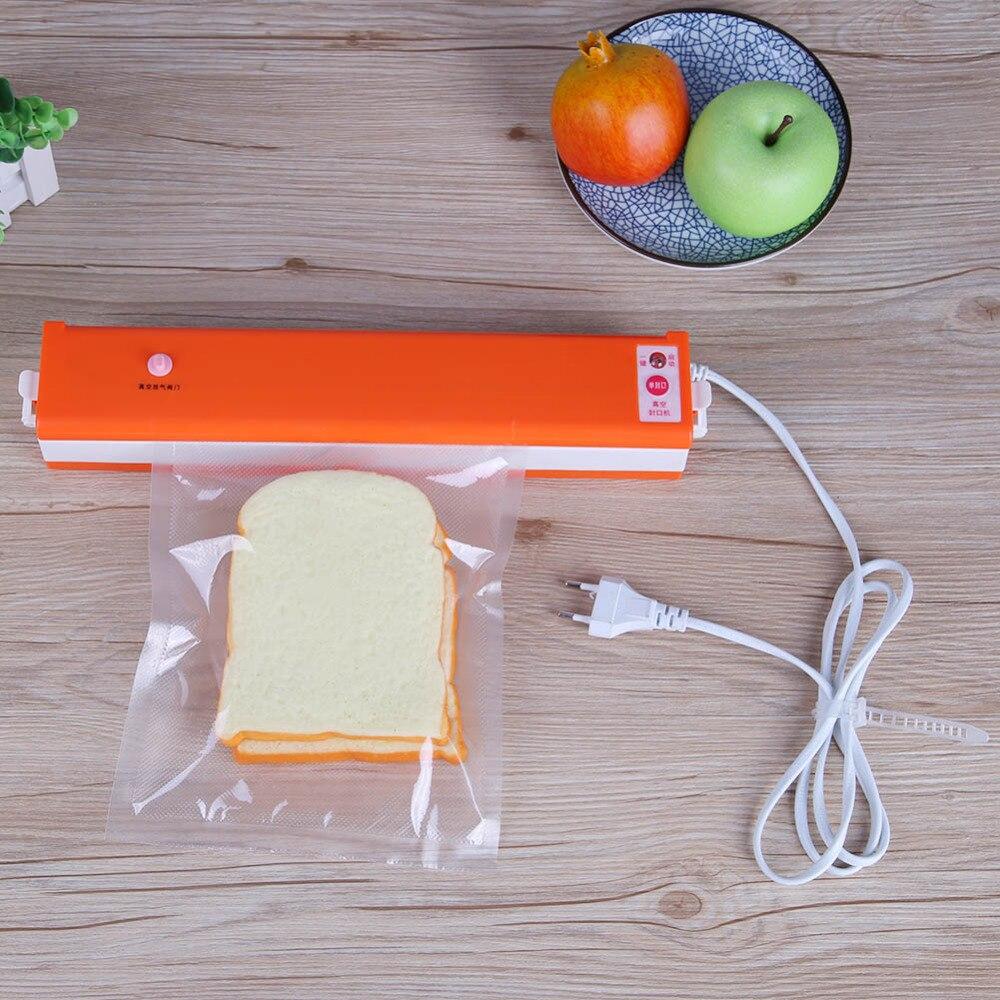 Alloet 230V Vacuum Sealer Automatic Vacuum Food Sealer Handheld Sealing Machine Kitchen Appliances Food Saver with Sealer Bags стоимость