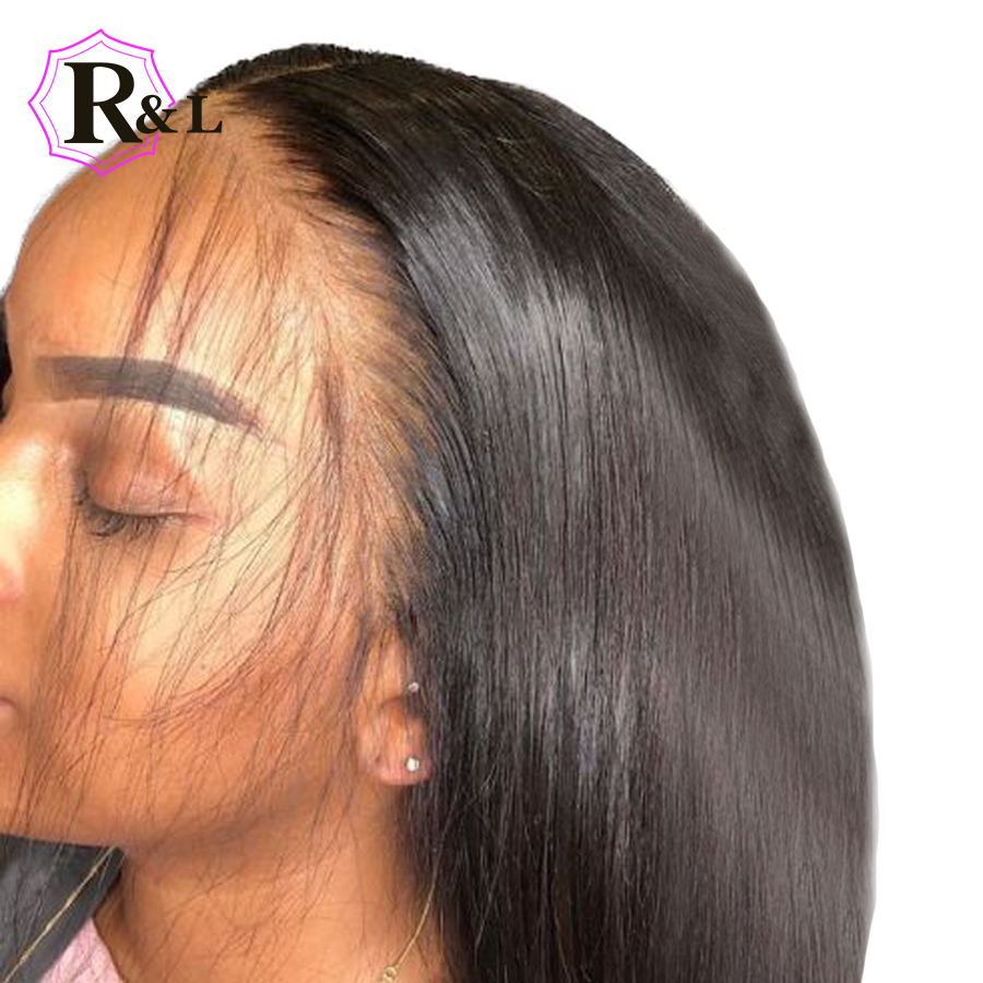 RULINDA Straight Free Part 13*4 Lace Front Human Hair Wigs Bleached Knots Brazilian Remy Hair Wig Pre Plucked With Baby Hair-in Human Hair Lace Wigs from Hair Extensions & Wigs    1