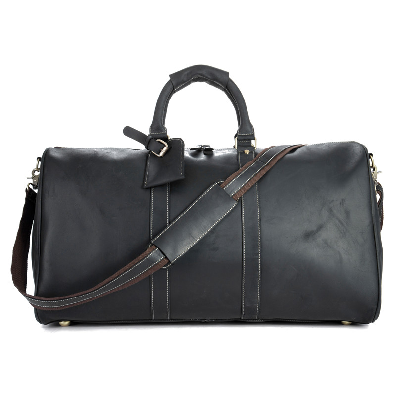 Genuine Leather Men Travel Bags Large Capacity Male Shoulder Crossbody Bags Casual Travel Duffle Handbags 9551-60Cm