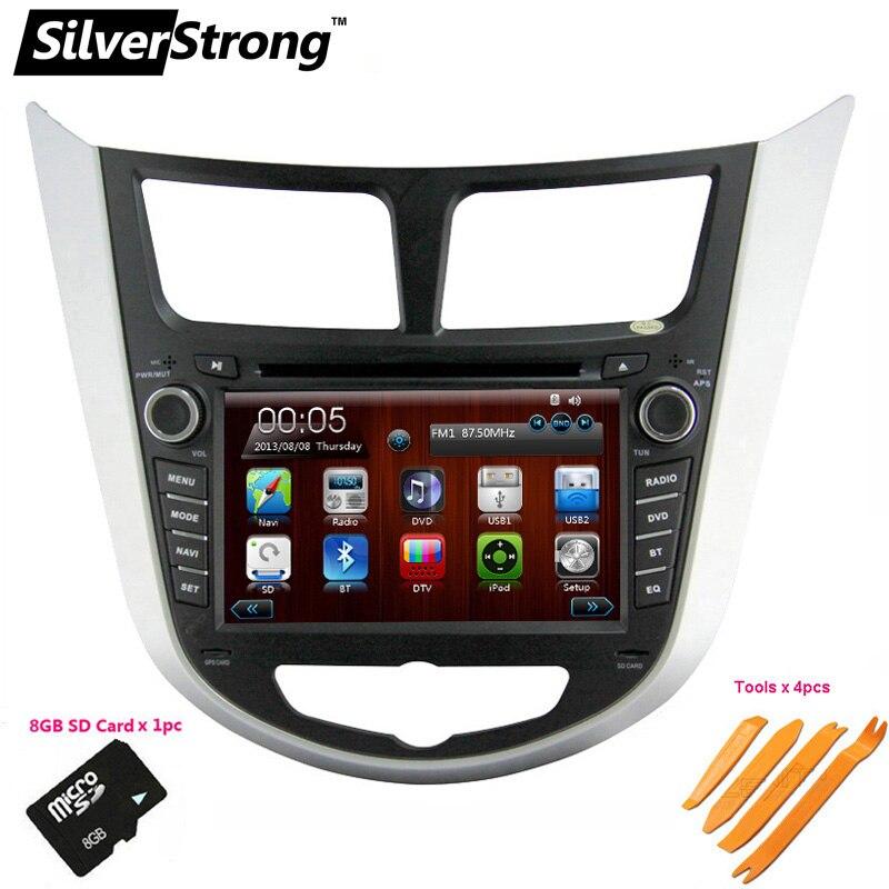 SilverStrong 7 pouces DVD De Voiture pour Hyundai Solaris Verna Accent 2din dvd de voiture stéréo radio pour Solaris hayon volant