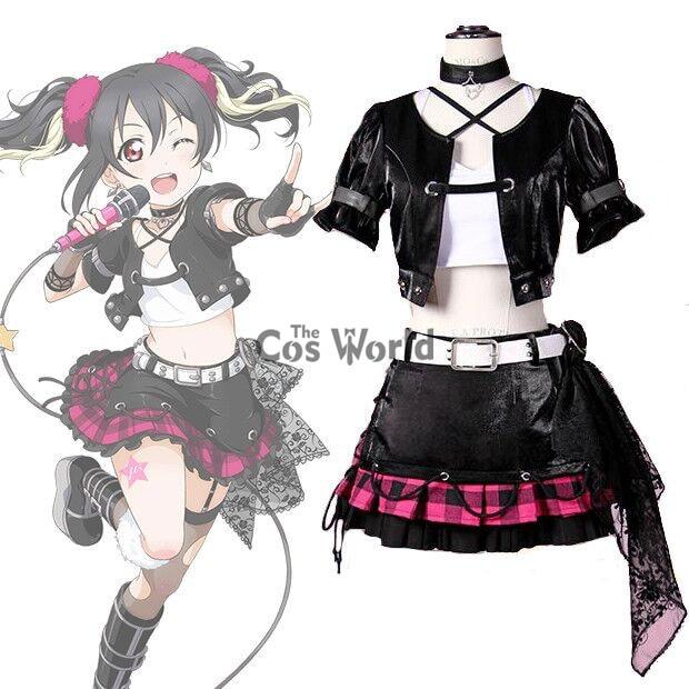 LoveLive! Love Live BiBi Yazawa Nico Rock Tops Coat Outwear Uniform Dress Outfit Anime Cosplay Costumes