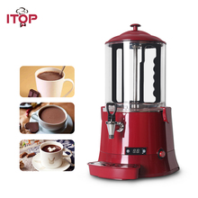 ITOP Red/Black Commercial 10L Chocolate Dispenser Machine,Hot Beverage Coffee Milktea Mixer Hot Warmer Machine
