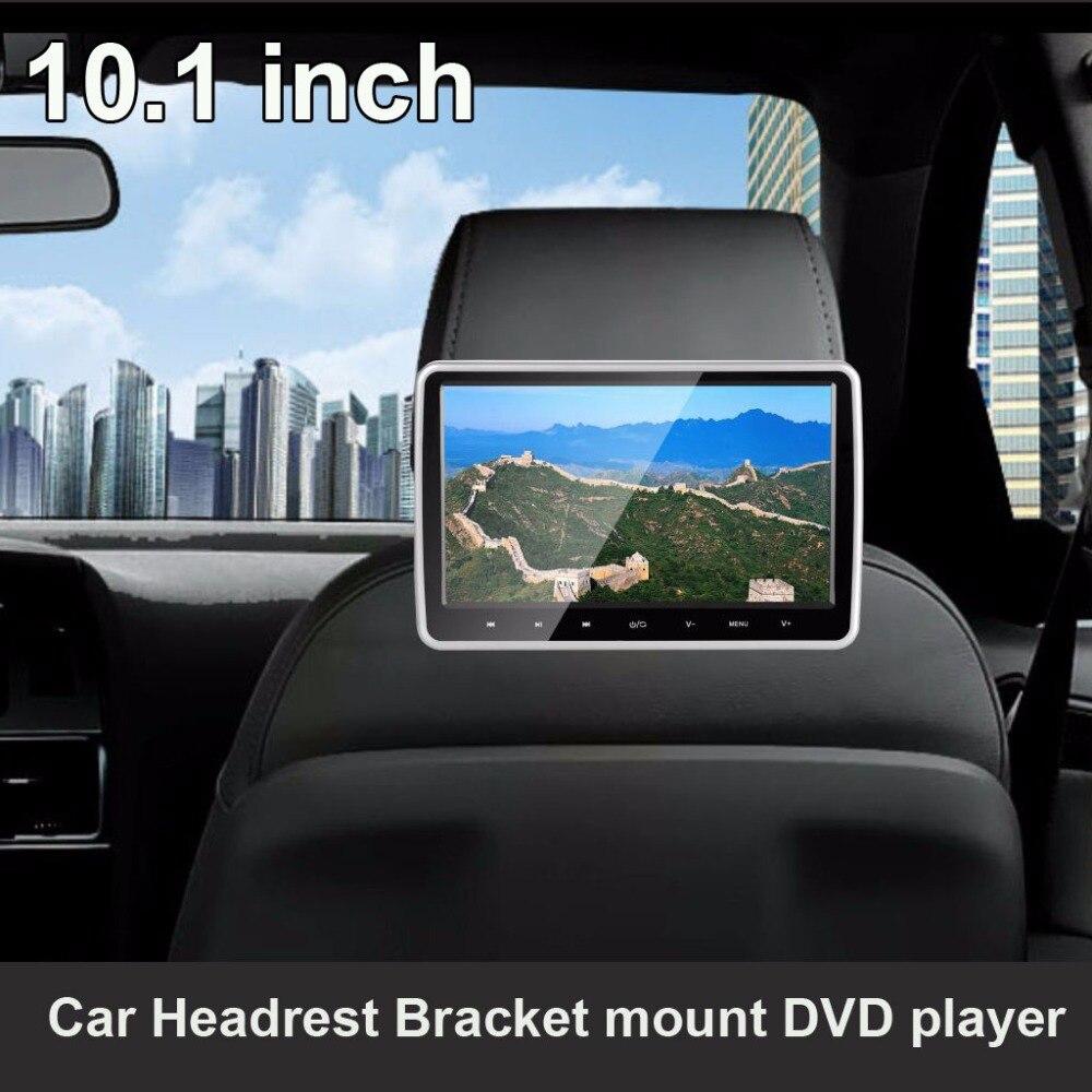 10,1 дюймовый сенсорный экран подголовник автомобиля dvd плеер с HDMI USB SD FM (1 шт)
