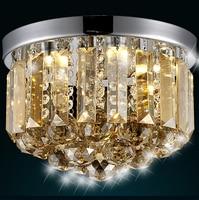 Modern Fashion Luxurious Clear Champange Crystal Led E14 Ceiling Light For Living Room Aisle Entrance 1907