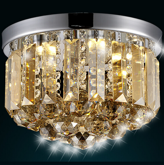 modern fashion luxurious clear/champange crystal led e14 ceiling light for living room aisle entrance 1907 fashion crystal flower rgb changeable led ceiling light for living room entrance aisle dia 20cm 2117