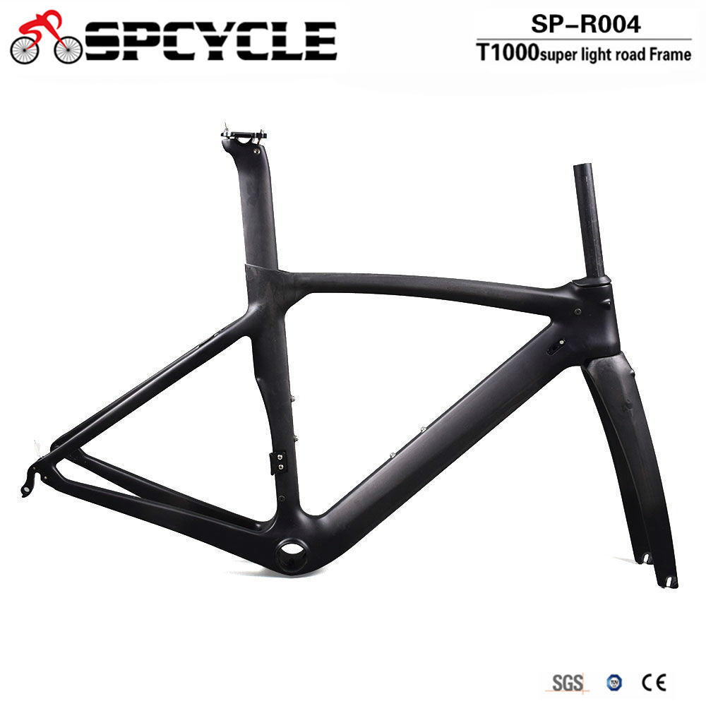 Spcycle 2018 New XR4 Bicycle Frame T1000 Carbon Road Bike Frame Ultralight Carbon Racing Bicycle Frameset With Fork Seatpost 2018 carbon track frame carbon fiber fixed gear bike frame carbon racing tracking bike frameset 49 51 54cm with fork seatpost