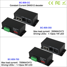 BC-809-CC 350mA/700mA 3CH DMX512 Decoder constant current controller for LED Strip Tape led downlight wall washer