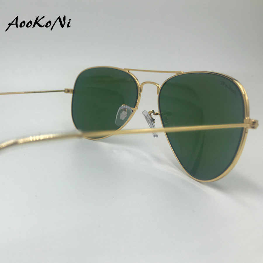 ea92ad254c31 ... New Pilot UV400 Protection Classic Sunglasses Women Men Gold Frame  Glass G15 Lens Glasses Scratch Proof