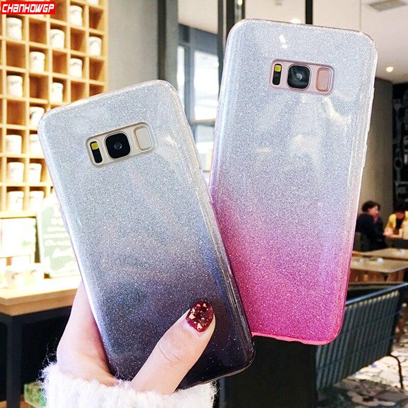 Glitter Silicon Case For Samsung Galaxy S8 S9 S10 Plus S6 S7 Edge A7 A9 A6 A8 J4 J6 Plus J8 2018 J3 J5 J7 Neo A5 2017 Cover