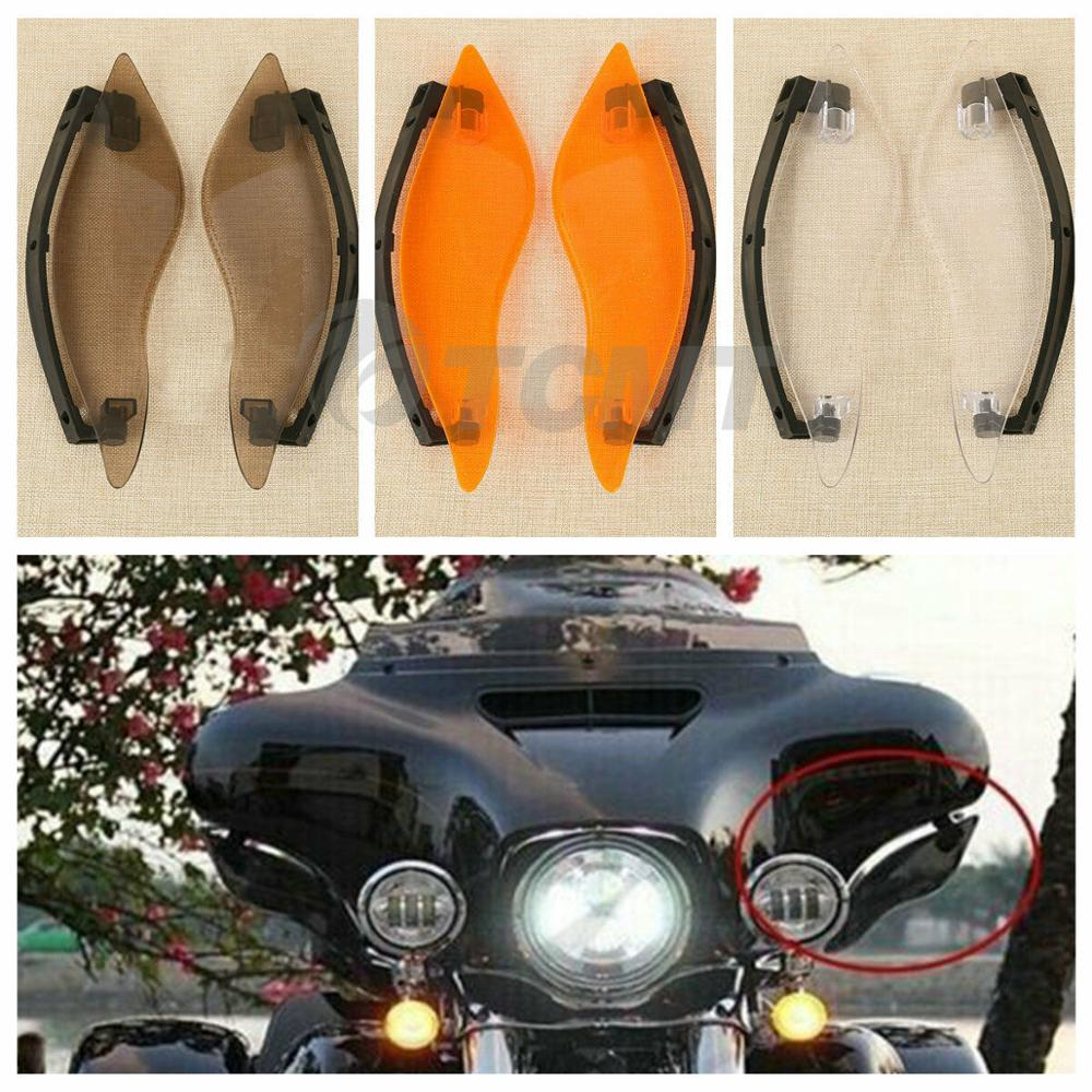 Motorcycle Adjustable Windshield Air Deflector For Harley Touring Electra Street Tri Glide Ultra Limited 14 18 17 Clear Smoke in Covers Ornamental Mouldings from Automobiles Motorcycles