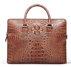 Подлинная крокодил кожаный портфель кожи аллигатора мужчин ноутбук