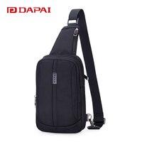 DAPAI 8Inch Business Men Chest Pack Man Messenger Bag Simple Satchel Outdoor Oxford Cloth Bag Casual
