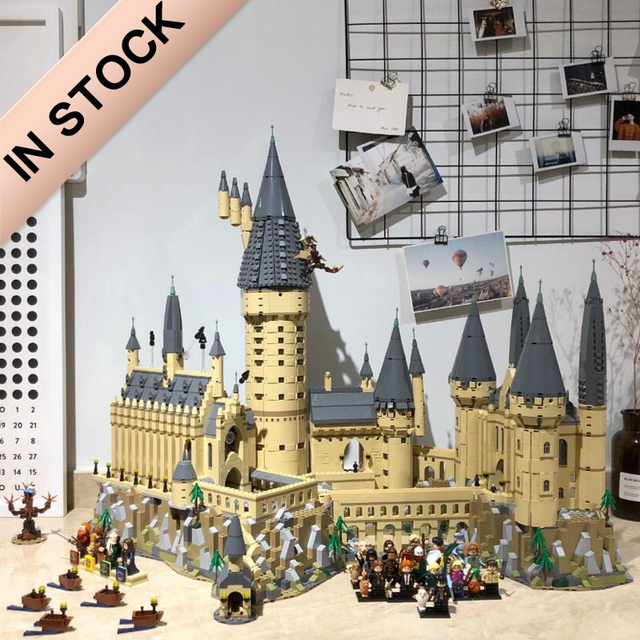16060 The Hogwart Castle School Mode 6044pcs Harri Movie Potter Model Building Blocks Compatible with 71043 Toys