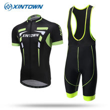 XINTOWN 2018 Team Cycling Jersey Set Quick Dry MTB Bicycle Clothes Wear Mountain Bike Clothing Maillot Ropa Ciclismo Sky Men(China)