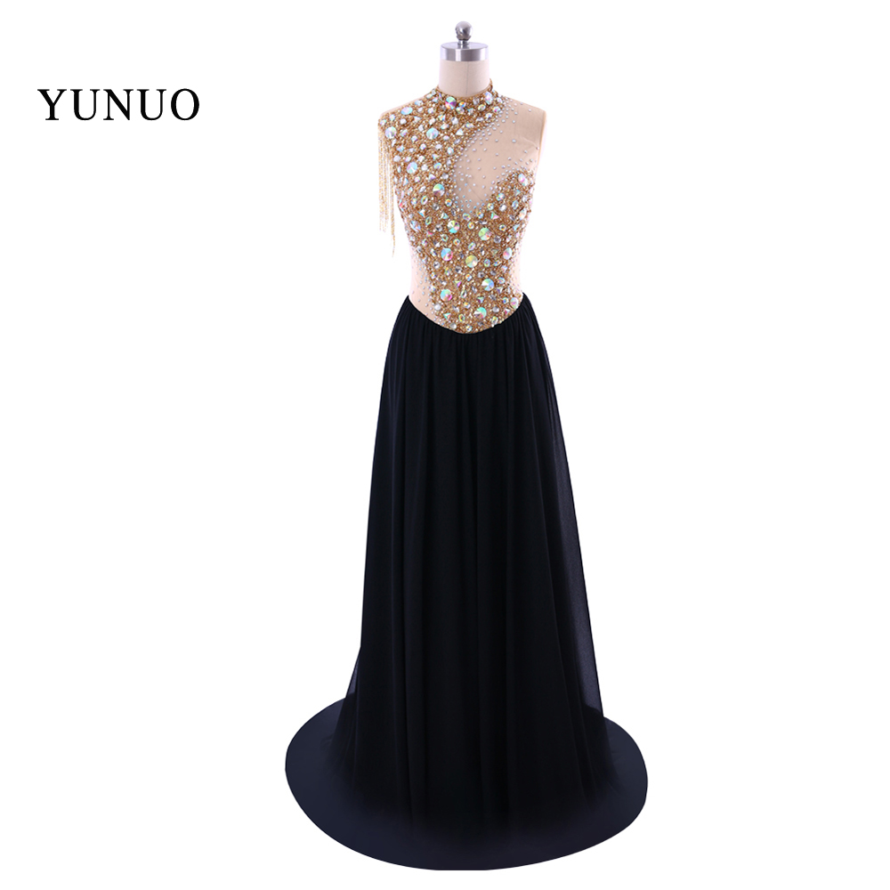 082A5537 S6 Fast Shipping Hot Sale Sexy A-line 2018 New Real Sample Elastic Waist Slim Floor-length Evening Dress