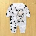 Roupas de bebê novo inverno quente 100% algodão e outono macacão de bebê roupas de bebê meninos/meninas/criança/recém-nascidos/crianças manga longa roupas