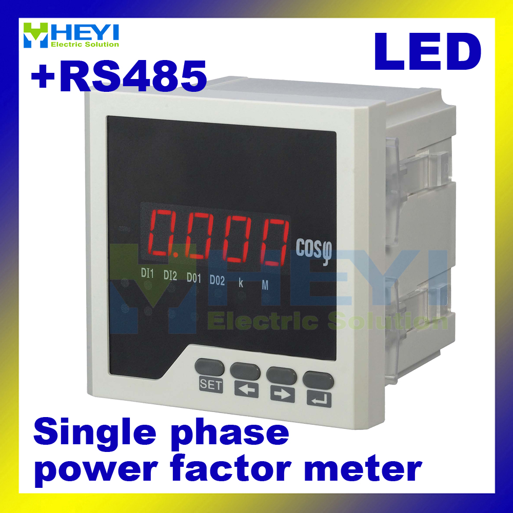 Single phase digital power factor meter COS power factor indicator COS meter LED HY-H with RS485