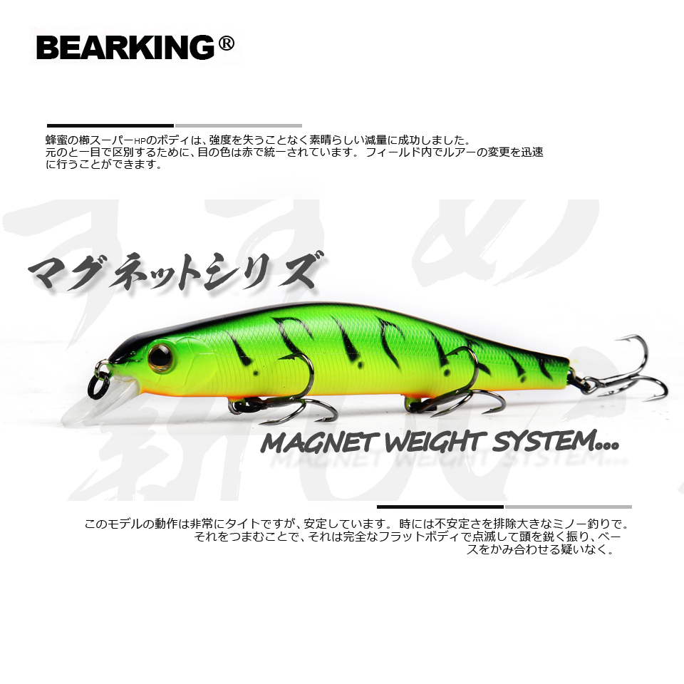 2018 Bearking Brand Z110 Hard Fishing Lures Minnow 11cm 17g quality Baits Deep Diving Wobblers Fishing Tackles Free shipping