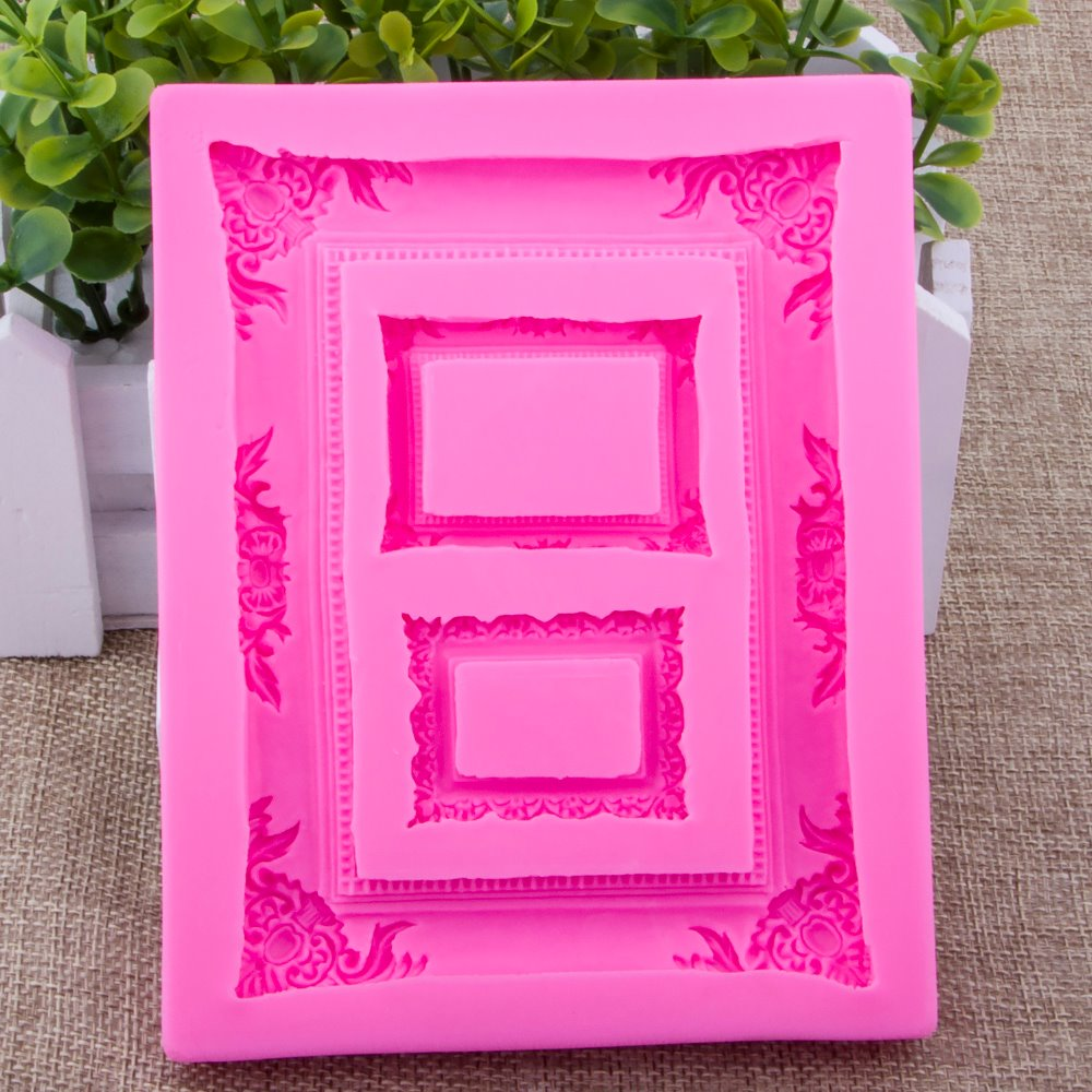 Photo frame Shape Fondant cake silicone mould Kitchen for pastry candy Gum paste Chocola ...