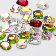 Fashion Nail Accessories Stones Rhinestones Decorations Art Rectangle Flat Back Crystal Shiny 3D Strass Manicure