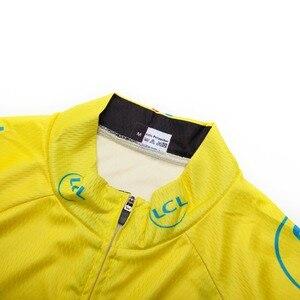 Image 2 - 2019 Yellow Jersey di Riciclaggio A Maniche Lunghe Da Uomo Motocross Mountain Bike Bicicletta Abbigliamento DH MTB Della Bici Abbigliamento Sportivo