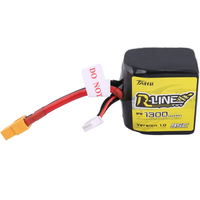 Newest Tattu R Line V1.0 4S 14.8V 1300mAh 95C 4S1P Square Lipo Battery with XT60 Plug for FPV Racing Drone