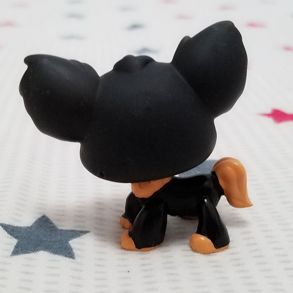 Original Lovely Pet shop animal LPS action figure doll Brown Black Chihuahua Puppy Dog #1571