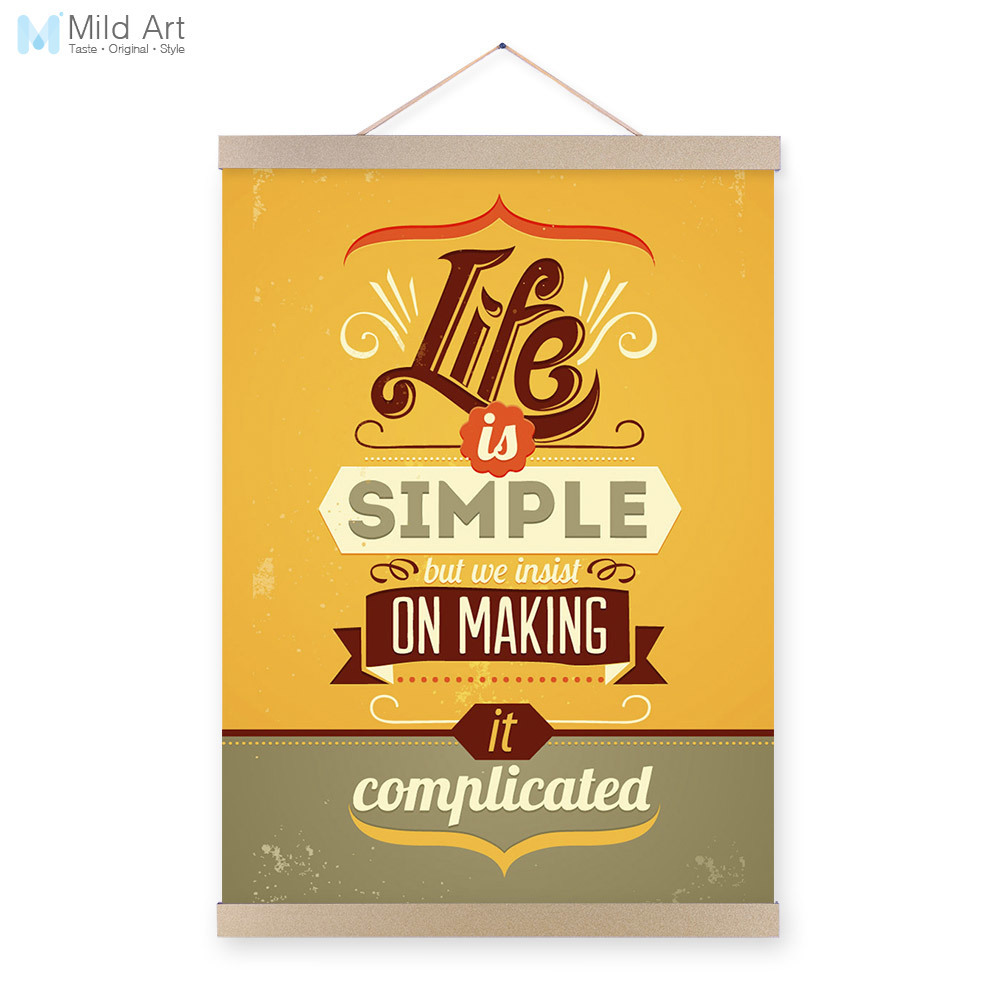 Vintage Retro Motivational Typography Simple Life Quotes ...