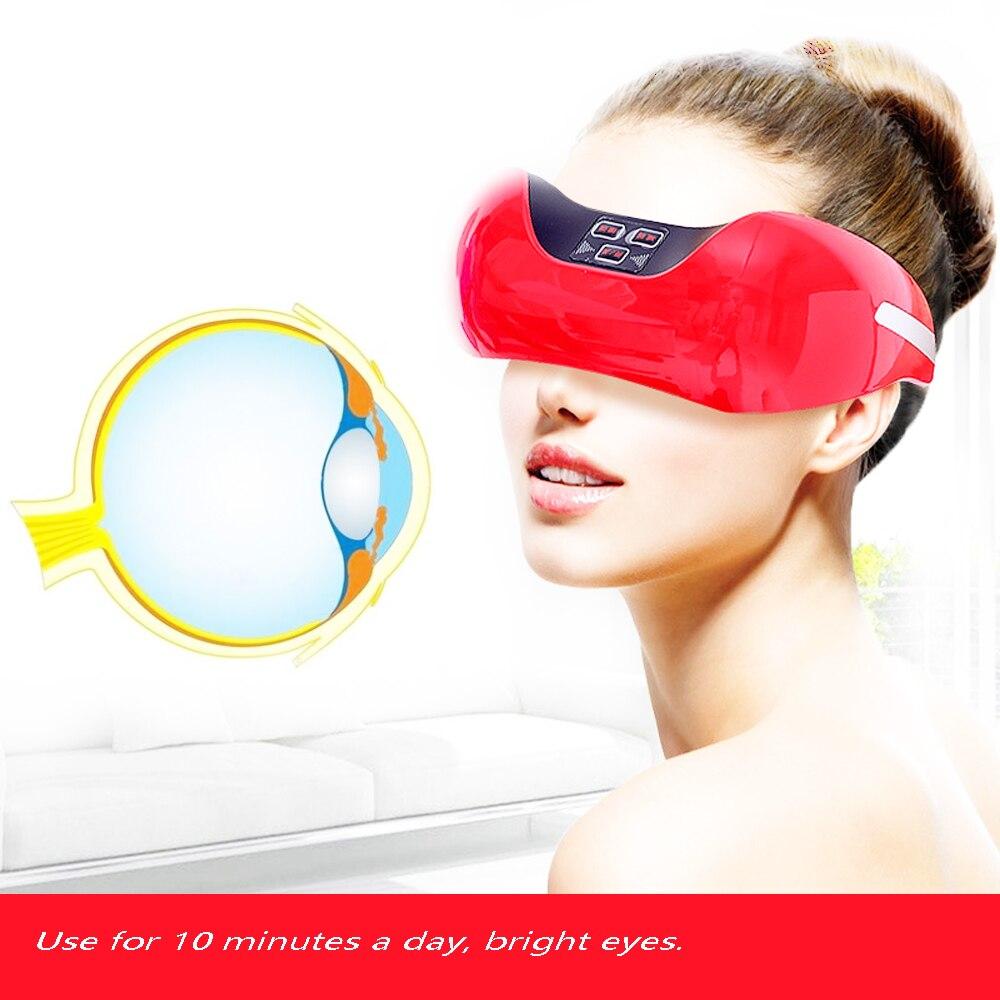 Sans fil de charge protection des yeux instrument, 3D vert lumière vision formation de récupération instrument, EMS pulse eye massager.
