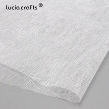 1 шт. белый плавкий прокладочный нетканый материал легко гладить на ткани двусторонний клей для DIY одежды куклы Материал R0113