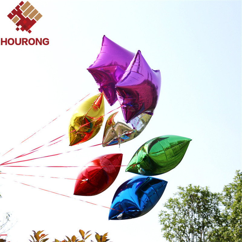 Hourong 10pcs/Pack 25.5*30.2cm Helium Ball Star Foil Balloon Inflatable Birthday