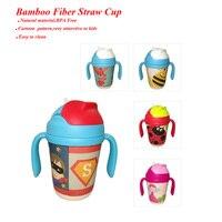 Baby Kids Portable Water Bottle 350ml Cartoon Zoo Animal Copo Infantil Taza Bebes