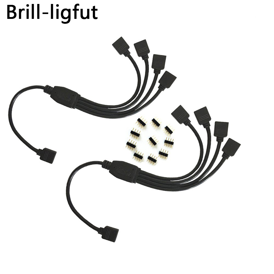 Brill-ligfut 4 Pin 1 To 1 2 3 4 5 Female Splitter Connector Extension Cable