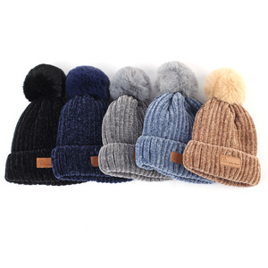 Image 2 - Geebro gorro para bebé de 0 a 3 años, bufanda, guantes de invierno, cálido, chenilla, gorro y bufanda, conjunto para niños y niñas