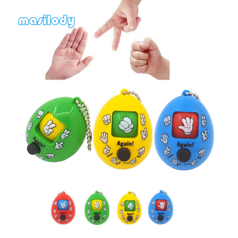 100pcs Lot Mixed Family Mora Games Keychain Rock Paper Scissors Play Toy Key Chain Face Dolls