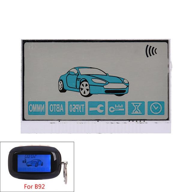 2 Way Car Alarm System Remote Control HD Display Car Alarm ...