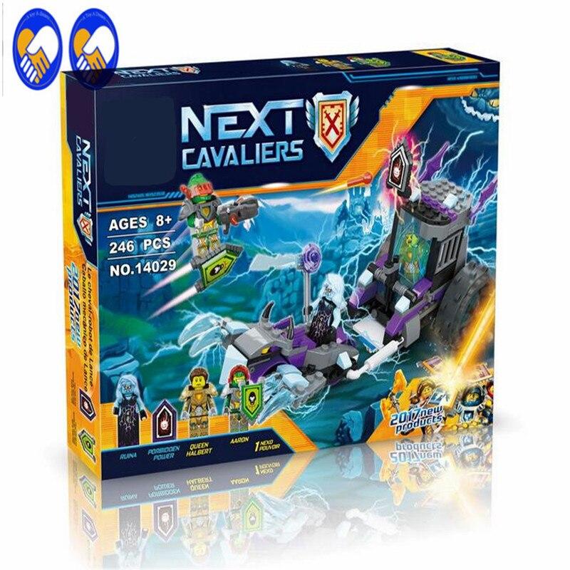A Toy A Dream Lepin 14029 Nexus Knights Building Blocks set Ruina's Lock & Roller Kids gift bricks toys compatible with 70349 apollo ru bun lock children puzzle toy building blocks
