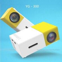 Mesuvida натуральная YG300 проектор yg 310 LED Портативный 500LM 3.5 мм аудио 320×240 пикселей YG-300 HDMI USB мини проектор media player