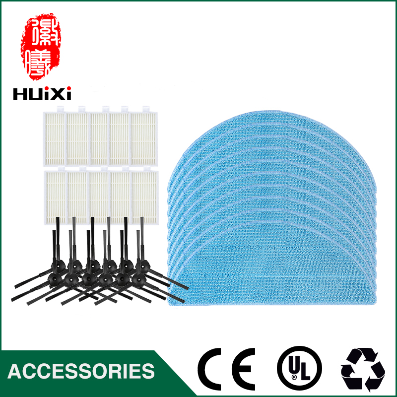 10pcs HEPA Filter+6pairs Side Brush+10pcs Cleaning Mop Cloth Replacement Washable for Home Clean for CR120 CR121 Vacuum Cleaner cheapest 1pcs cleaning mopping cloth 3 pair hepa filter 3 pair cleaner side brush for dt85 dt83 dm81 vacuum cleaner for house