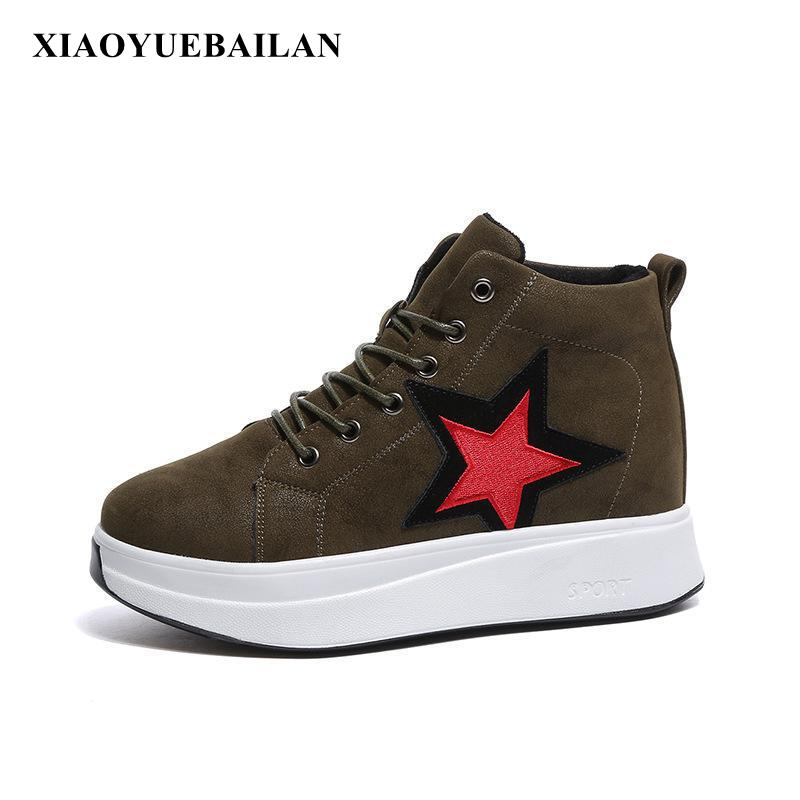 2017 New High Top Sneakers Casual Shoes All-match Ladies new dji top