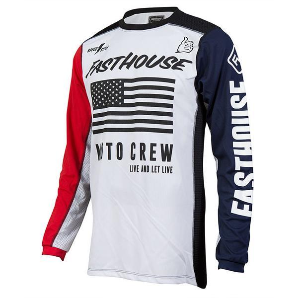 Цена за 2017 Новый fasthouse Трикотажные Мотоциклов Moto MTB DH Горный Велосипед велосипед Велоспорт Джерси MX ATV Off Road Wear Clothing T рубашка