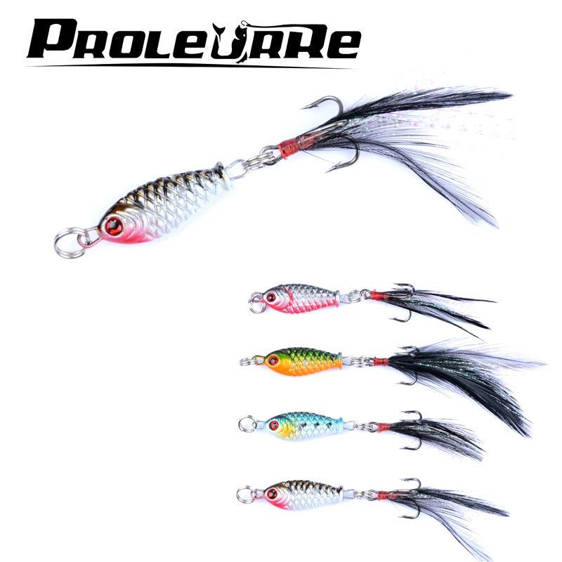 1 pcs 3.2cm/4.7g Small Minnow Metal Fishing Wobblers Crankbait Lure 3d Eyes Baits Artificial Bait With Feather Fishing Tackle amlucas minnow fishing lure 110mm 9 5g crankbait wobblers artificial hard baits pesca carp fishing tackle peche we266