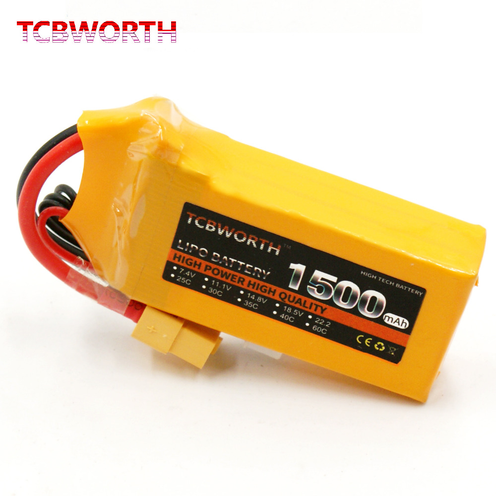 2PCS TCBWORTH RC LiPo battery 3S 11.1V 1500mAh 25C For RC Helicopter Airplane Quadrotor Drone Car RC Li-ion battery