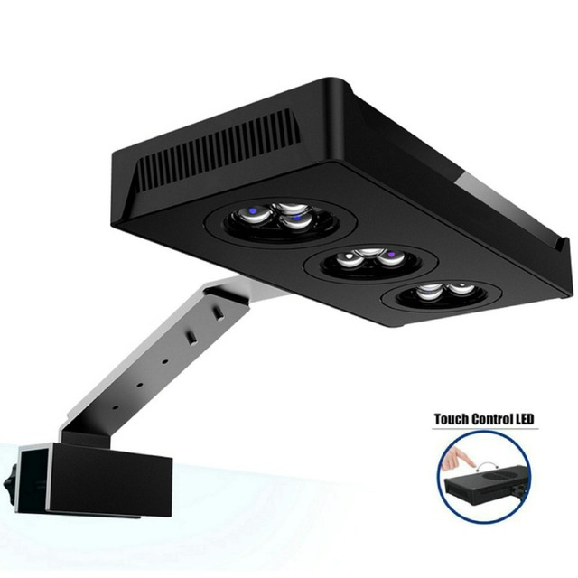 LED Aquarium Light - Aqua Knight 30W Saltwater Lighting 3W CREE Chip Touch Control for Coral Reef Fish Tank by HIPARGERO