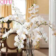 Artificial Orchid Flowers Fake Phalaenopsi Cymbidium Plant Silk Flower Bouquet Decorations