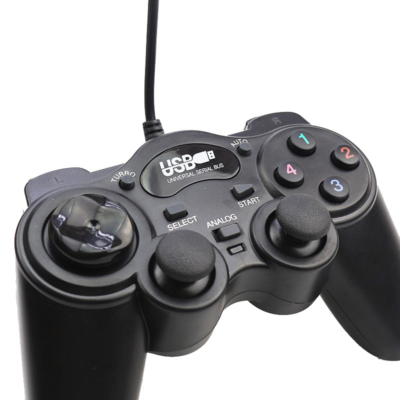 Wired Gamepad USB Game Controller Plug and Play Joypad Joystick Control for PC Computer Laptop Double Vibration Games Console