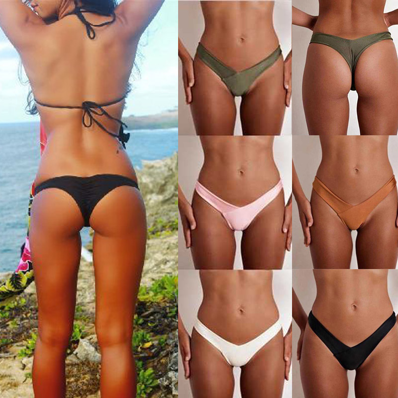 Sexy Women Brazilian Bikini Low Waist Bottom Thong G -3948