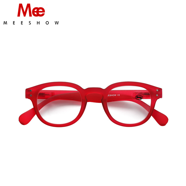 c10611ad0680 Meeshow trendy RED Reading Glasses Retro Europe style quality Men women eye  glasses with flex drop shipping Pouch included 1513